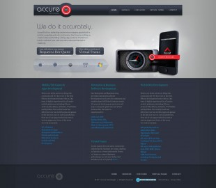 AccureTech-2011 Website design