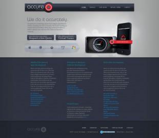 AccureTech-2011 Website design
