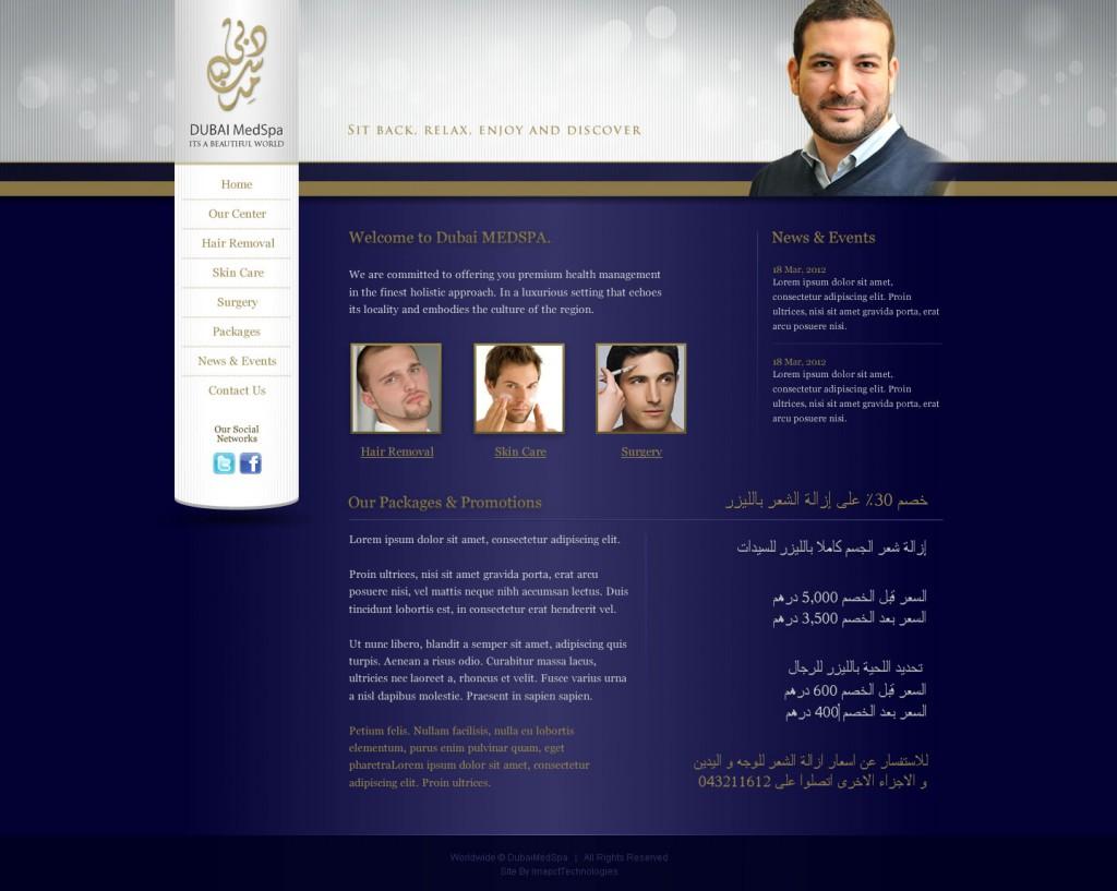 DubaiMedSpa - Sub-page structure design
