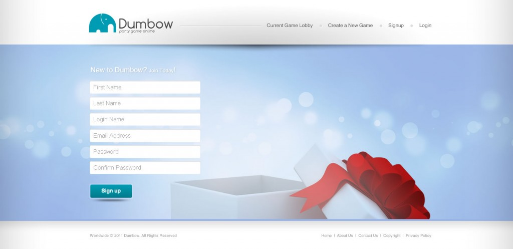 Dumbow - Signup