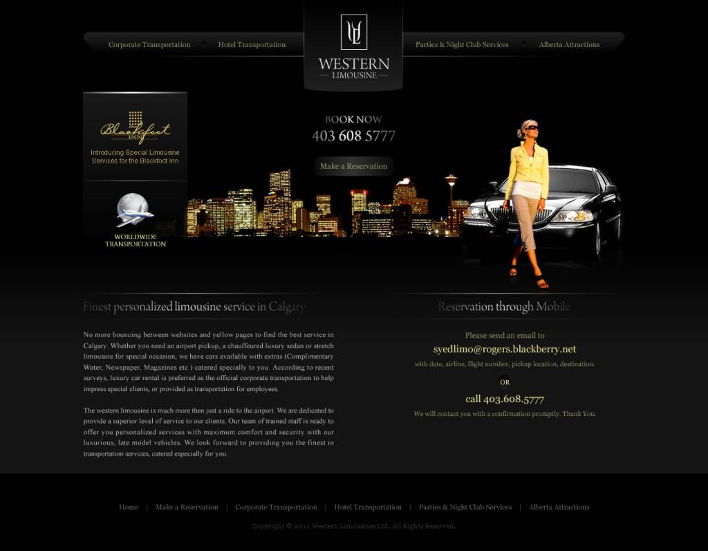 Western Limousine – Website Design