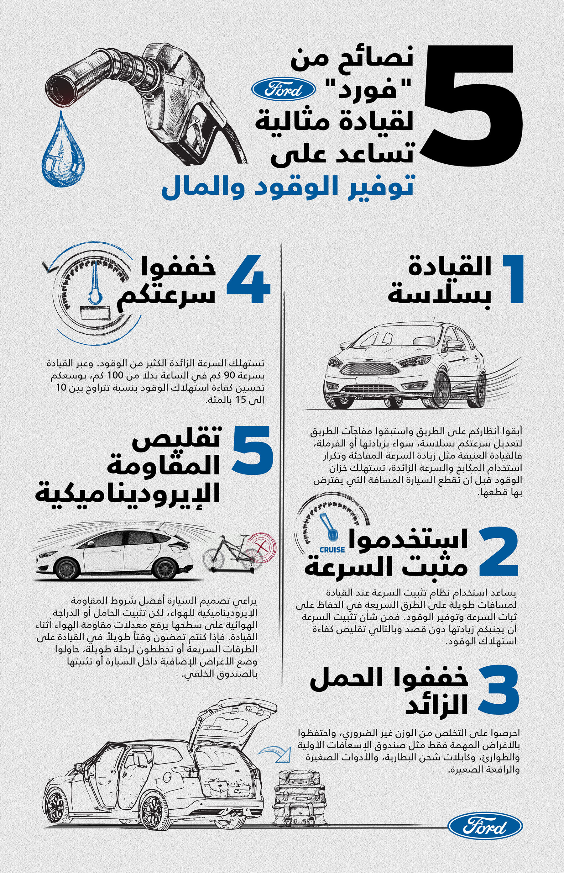 Fuel Efficiency Tips Infographic