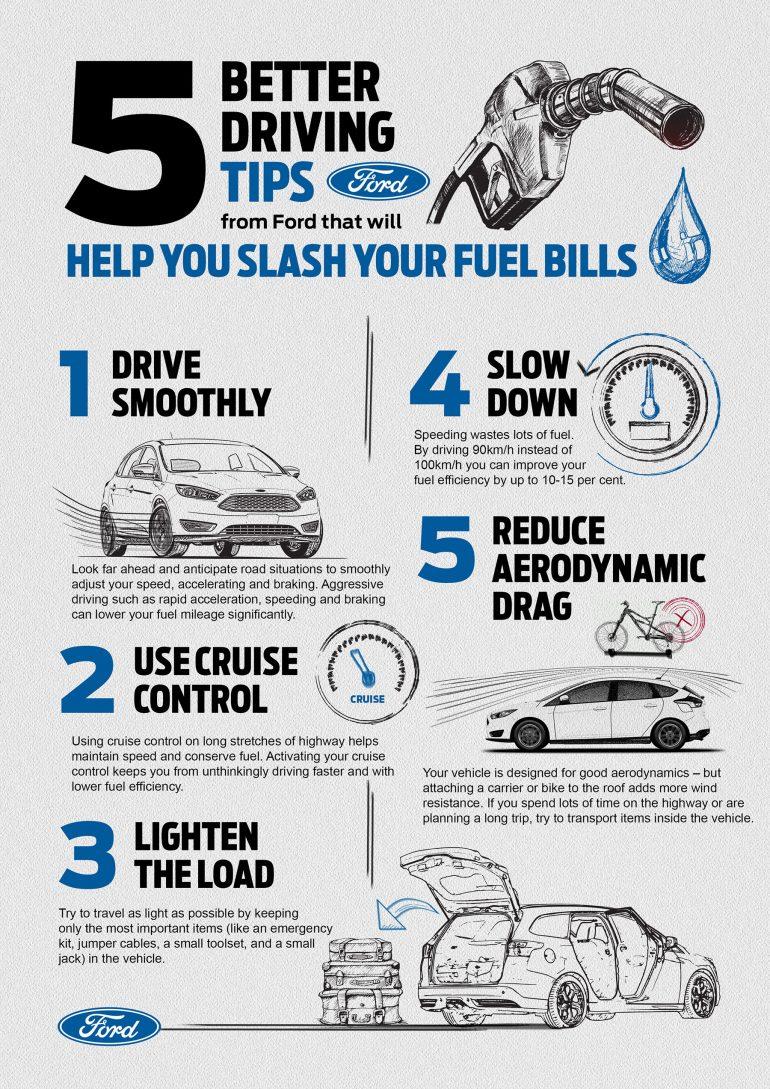 Fuel Efficiency Tips Infographic