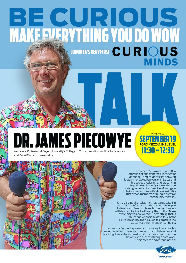 Be curious with Dr. James Piecowye